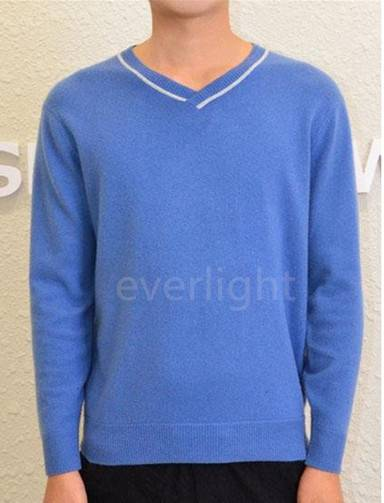 pure cashmere v-neck pullover long sleeve sweater for men