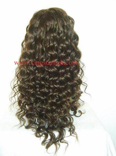 sell virgin indian hair front lace wigs