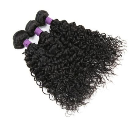 [9A]3 Bundles Peruvian Hair Weave Water Wave with 360 Lace frontal
