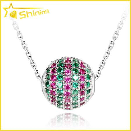 micro pave ball pendant with chain