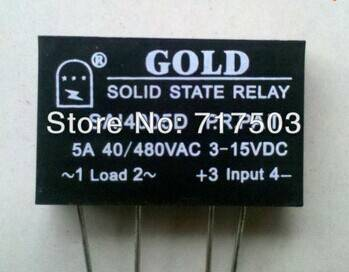Freeshipping PCB small solid state relay single-in-line SAI4005D DC to AC 5A SSR input 3-15v or 15-2