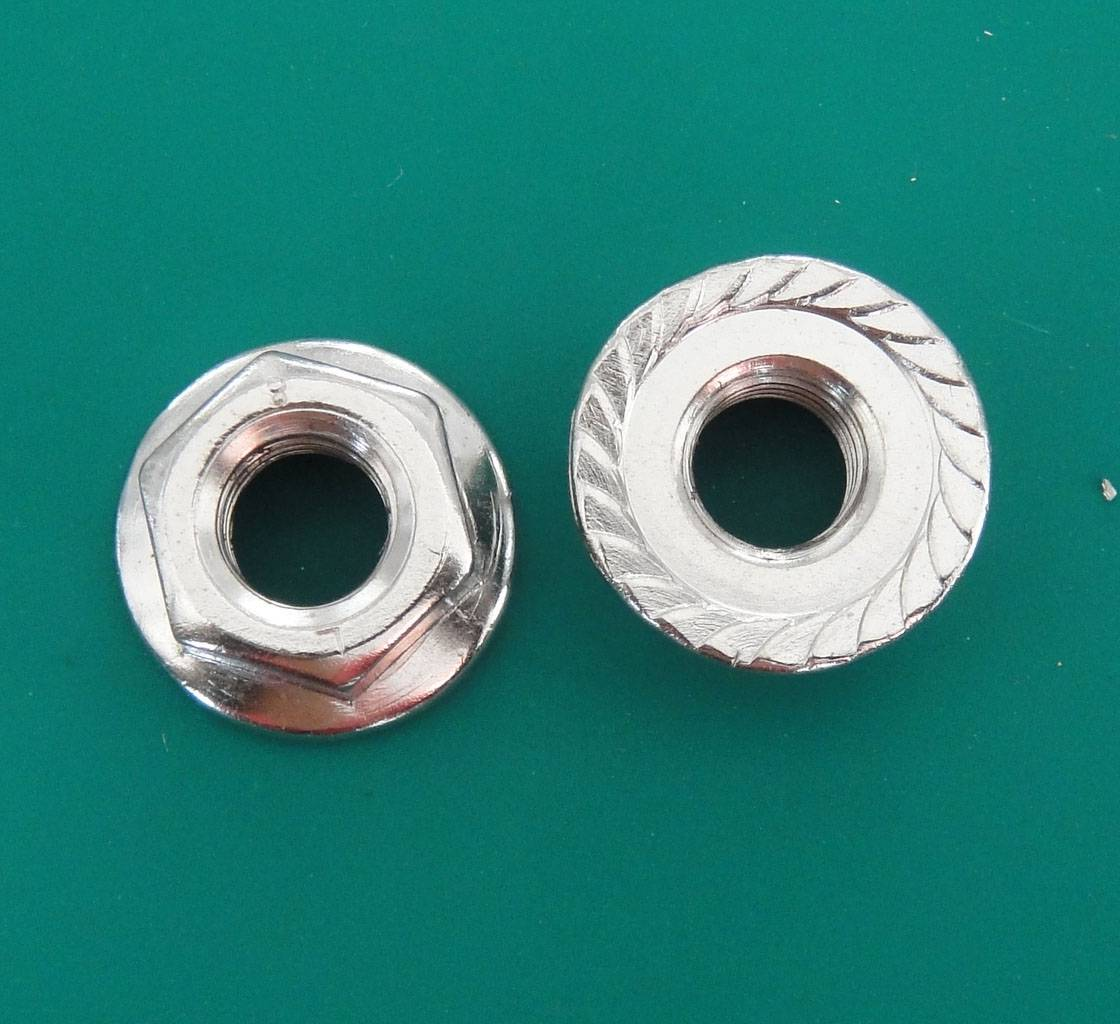 Flange nut Zinc Plated Steel