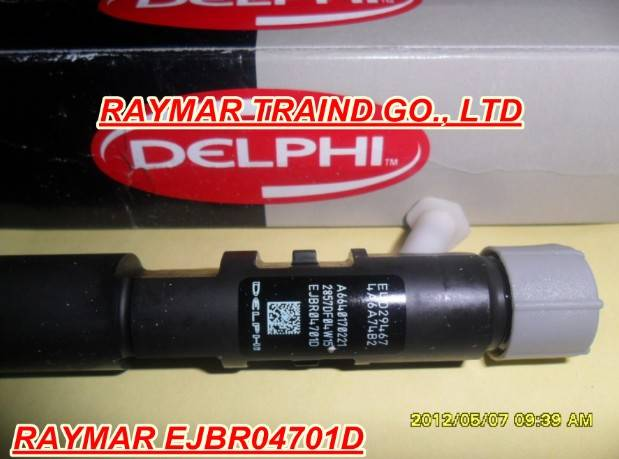 Delphi common rail injector EJBR04701D for SSANGYONG D20DT A6640170221