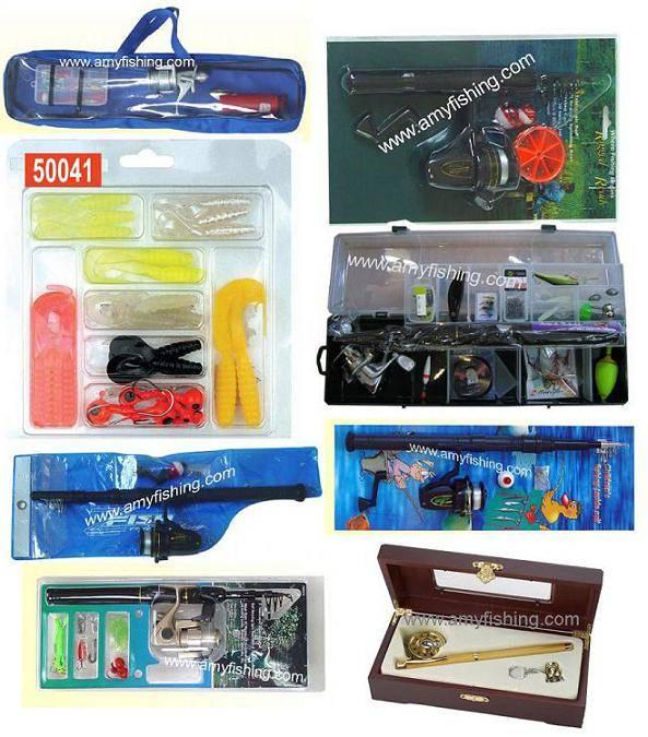 fishing tackle box, fishing set, fishing combo