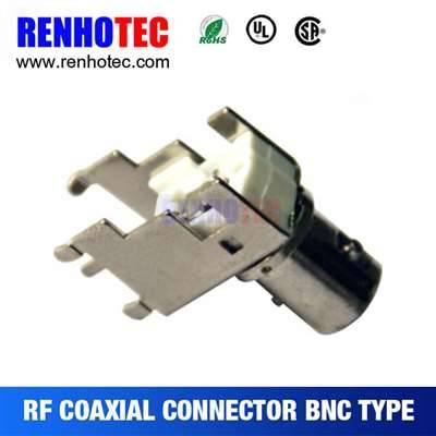 Right Angle Electrical BNC Jack Connector For PCB