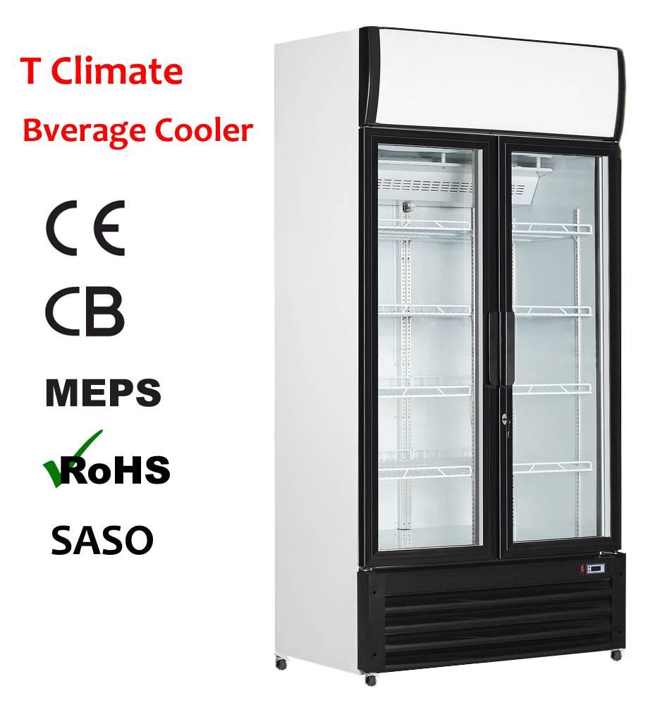 High Quality Double Door Beverage Drink Cooler
