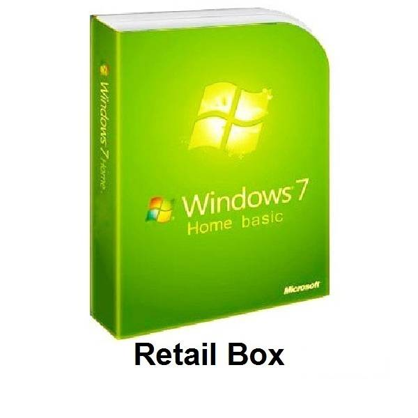 Microsoft Windows 7 Home Basic Retail Box