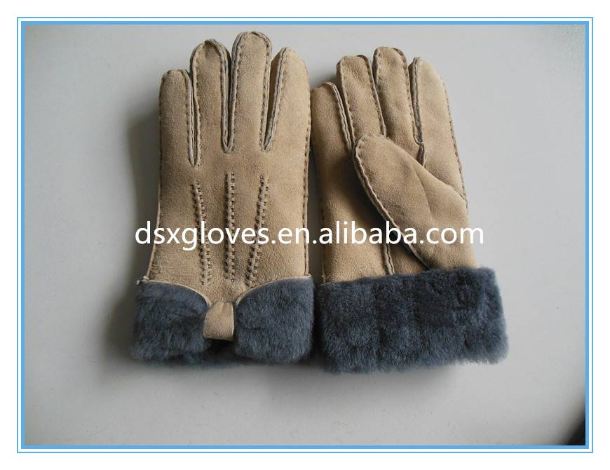 Cheap Fur Gloves Wool Lined Fur Gloves For Winter