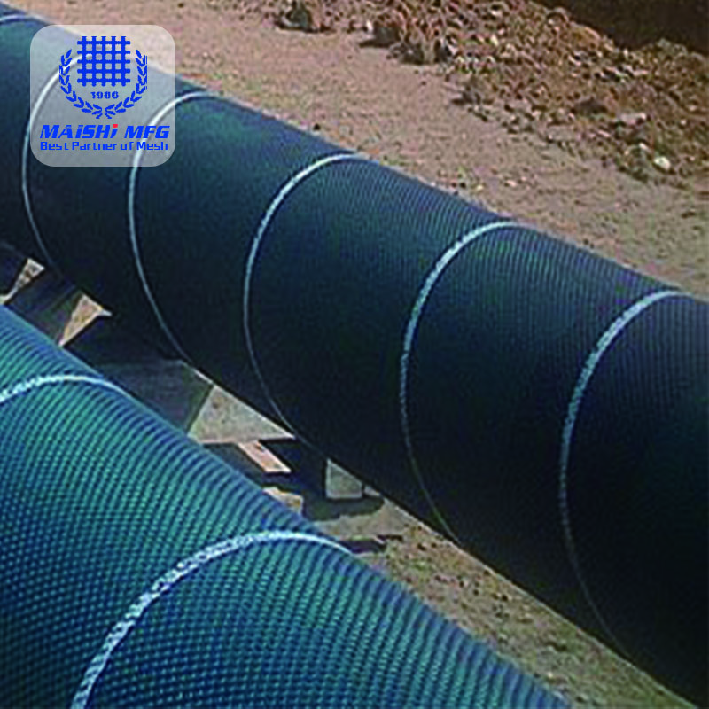 Extruded Plastic Mesh For Pipeline Protection