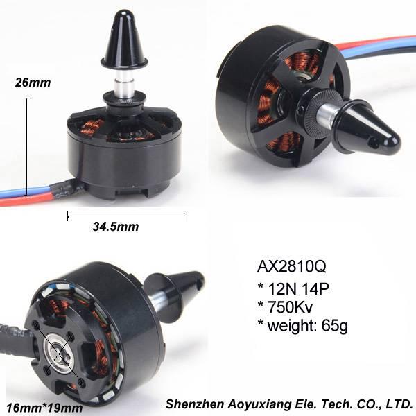 High quality brushless dc motor AX2810Q 750Kv or 900Kv