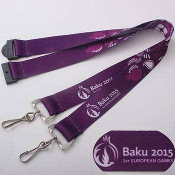 Customized design heat transfer / silk screen/ woven lanyard with design and sample free