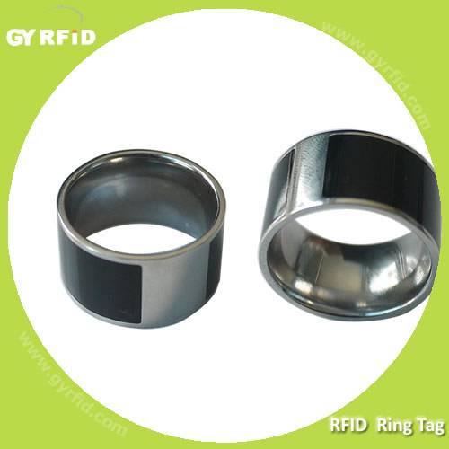 High quality NFC Ring made with Titanium Steel used for Business cards (GYRFID)