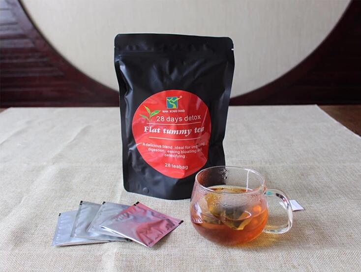 28 days detox flat tummy slimming tea with chinese herbal formula