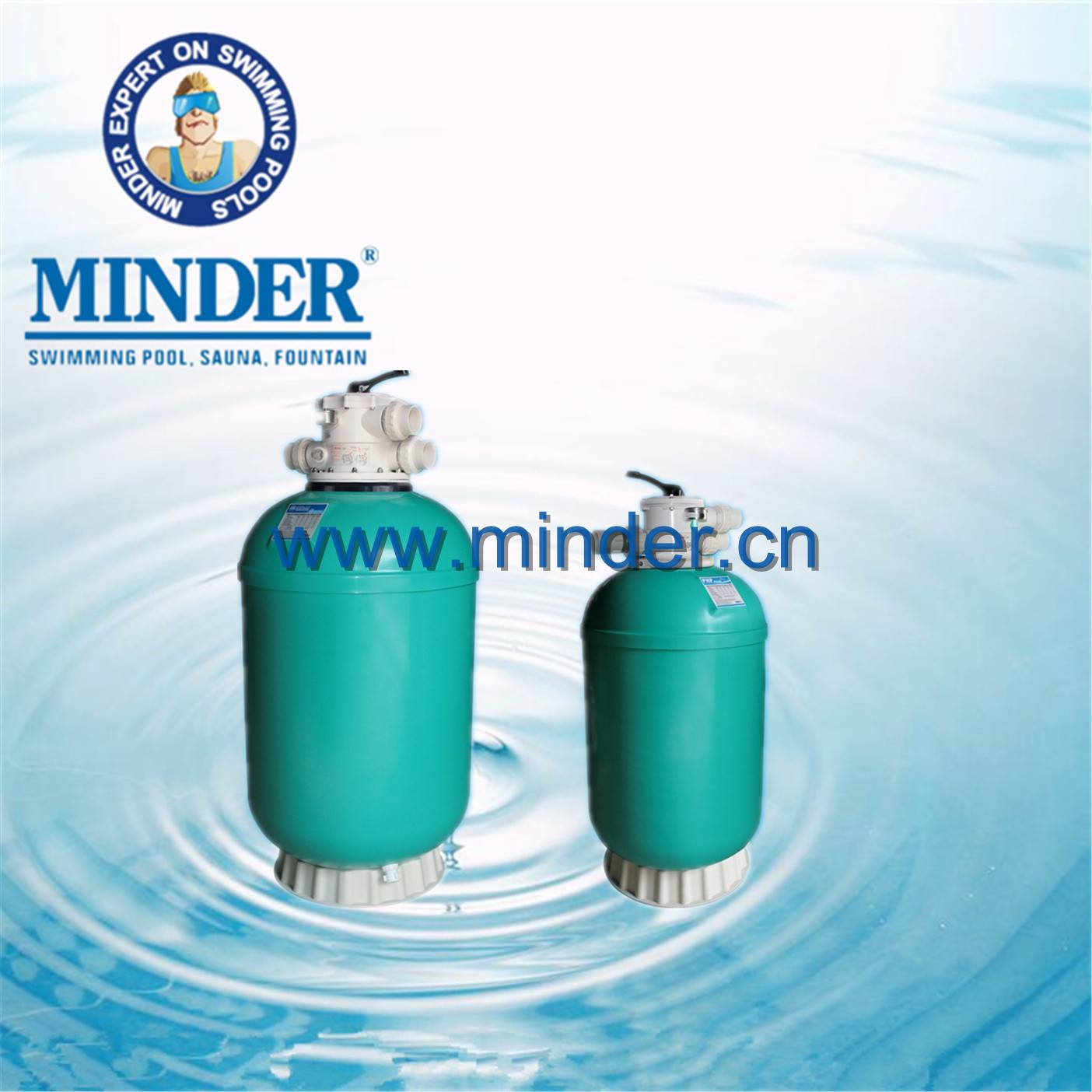 GH series 1.5 valve swimming pool filter sand filter