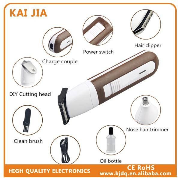 KJ-704C 3 IN 1 hair clipper/nose hair trimmer/DIY