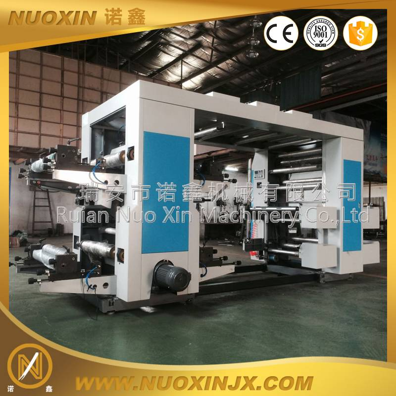 4 Color plastic film flexographic printing machine