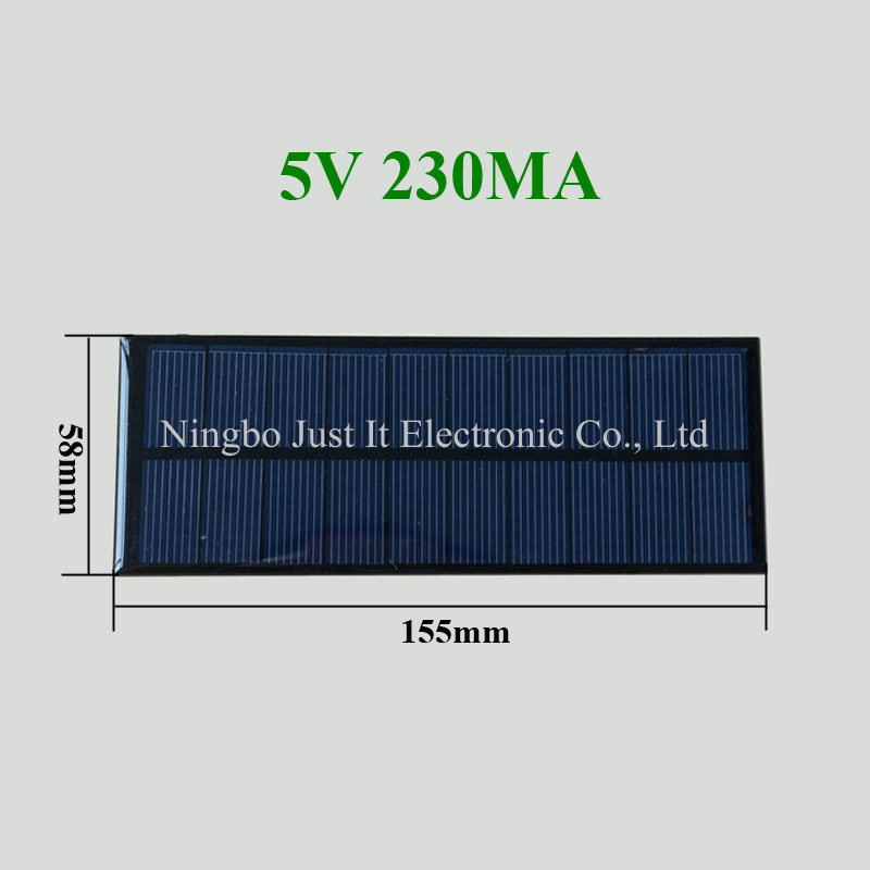 5V 230mA 1.15W 58x155mm Small Epoxy Solar Panel