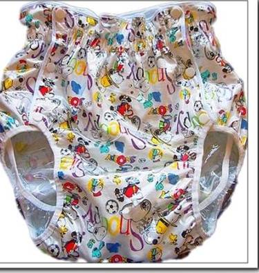 2221-Mickey & Friends-JAPAN Adult Baby Diaper Sissy Plastic Pant Cover