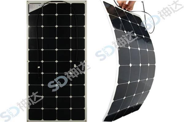 120W flexible solar module for boat or car use