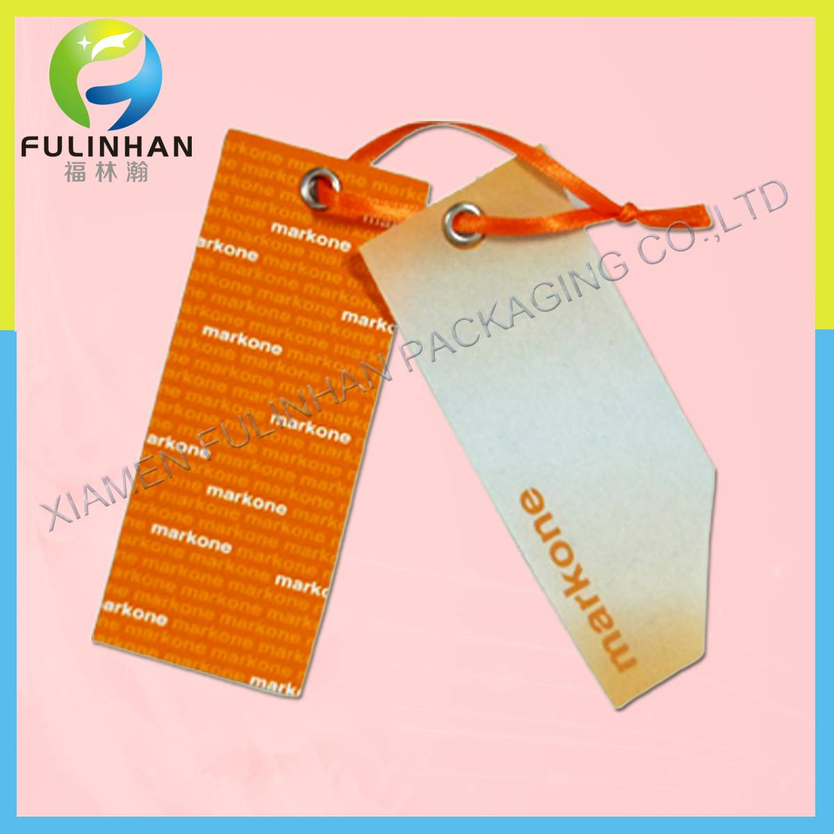 Composed Paper Hangtags for garments