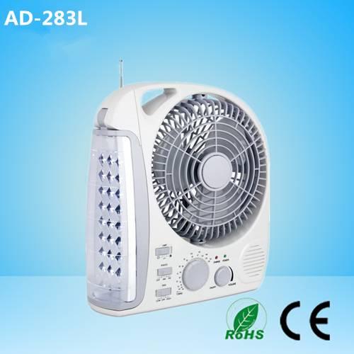 led emergency light with fan