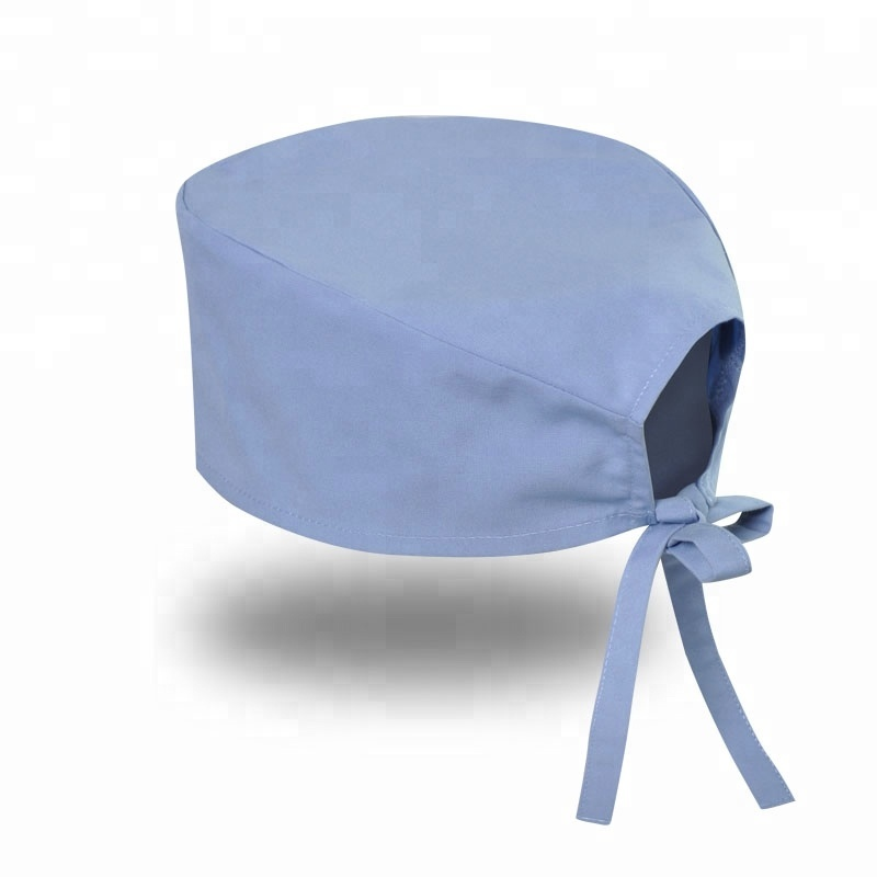 Doctor Surgical Scrub Hat Nurse Medical Anti-Static Scrub Cap One Size Dome Hats for Women Men