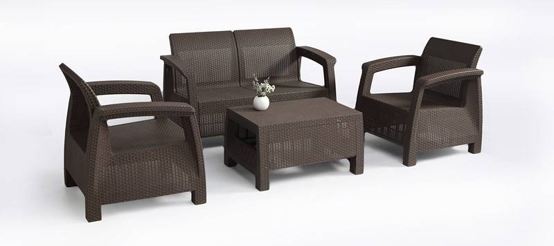 sell Rattan type polypropylene sofa set ,made of 100% polyprolene , 2pcs single rattan sofa chair+1