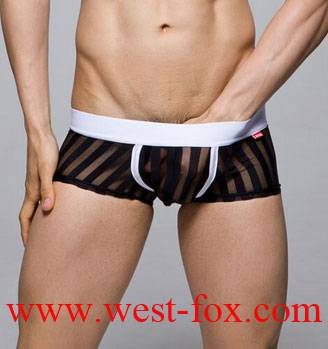 Color Can Be Customized Mens Boxer Shorts With Stripes Printed,underwear