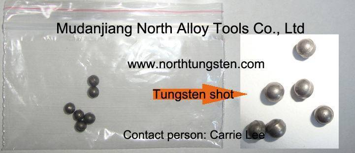 Tungsten shot for hunting