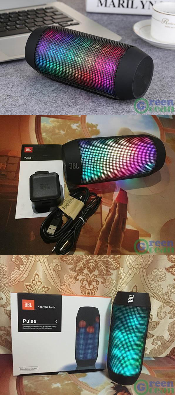 JBL Pulse Wireless Bluetooth Speaker with LED Lights, Hot Selling Popular Products, Coloful Color C