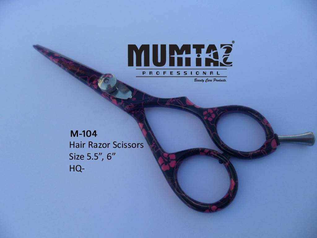 Hair Scissor Pink Flower Coated Shears