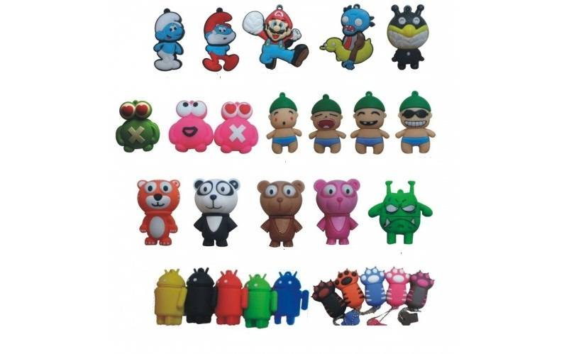 Animal & Cartoon Styles USB 2.0 Silicone Material Flash Drive