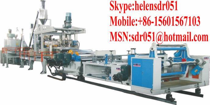 PVC/PET/PS/ABS------Plastic sheet production line