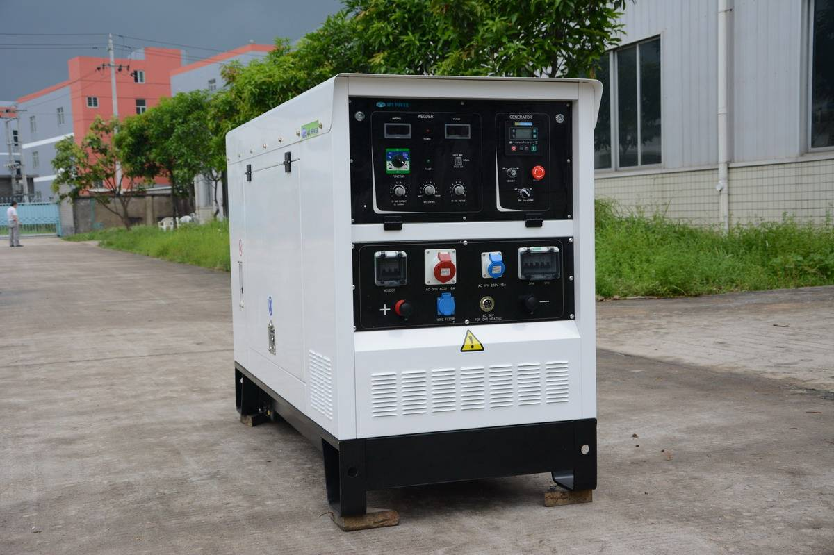 Welding Generator Set with Changchai Diesel Engine, MMA, GMAW and TIG Welding Functions