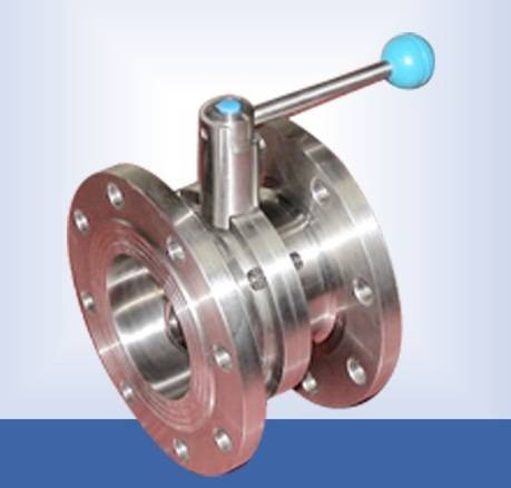 Stainless steel manual flange butterfly valve with pull handle