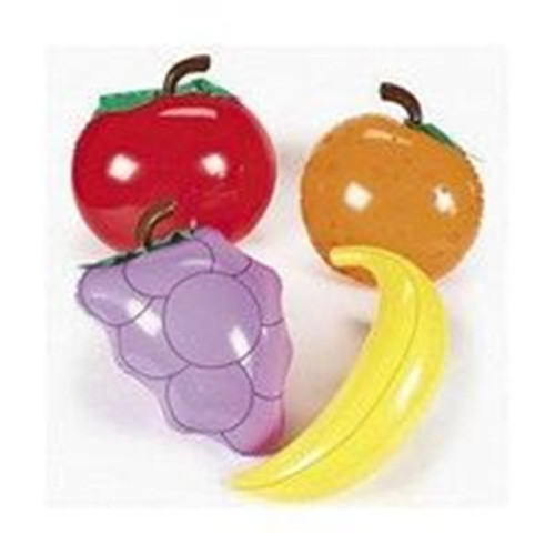 Inflatable fruit and vegetable display for advertisement