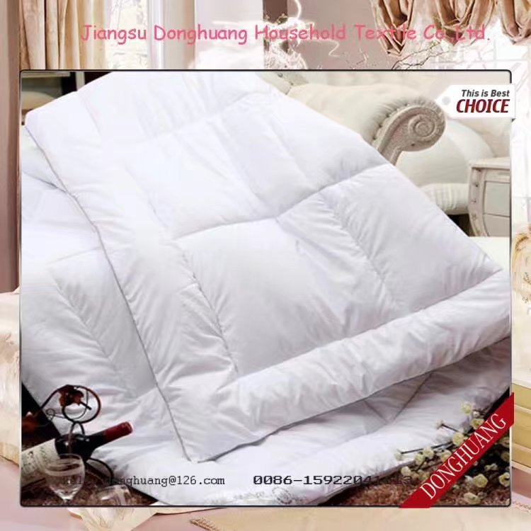 100% polyester blanc quilt