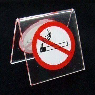 No Smoking acrylic warning board
