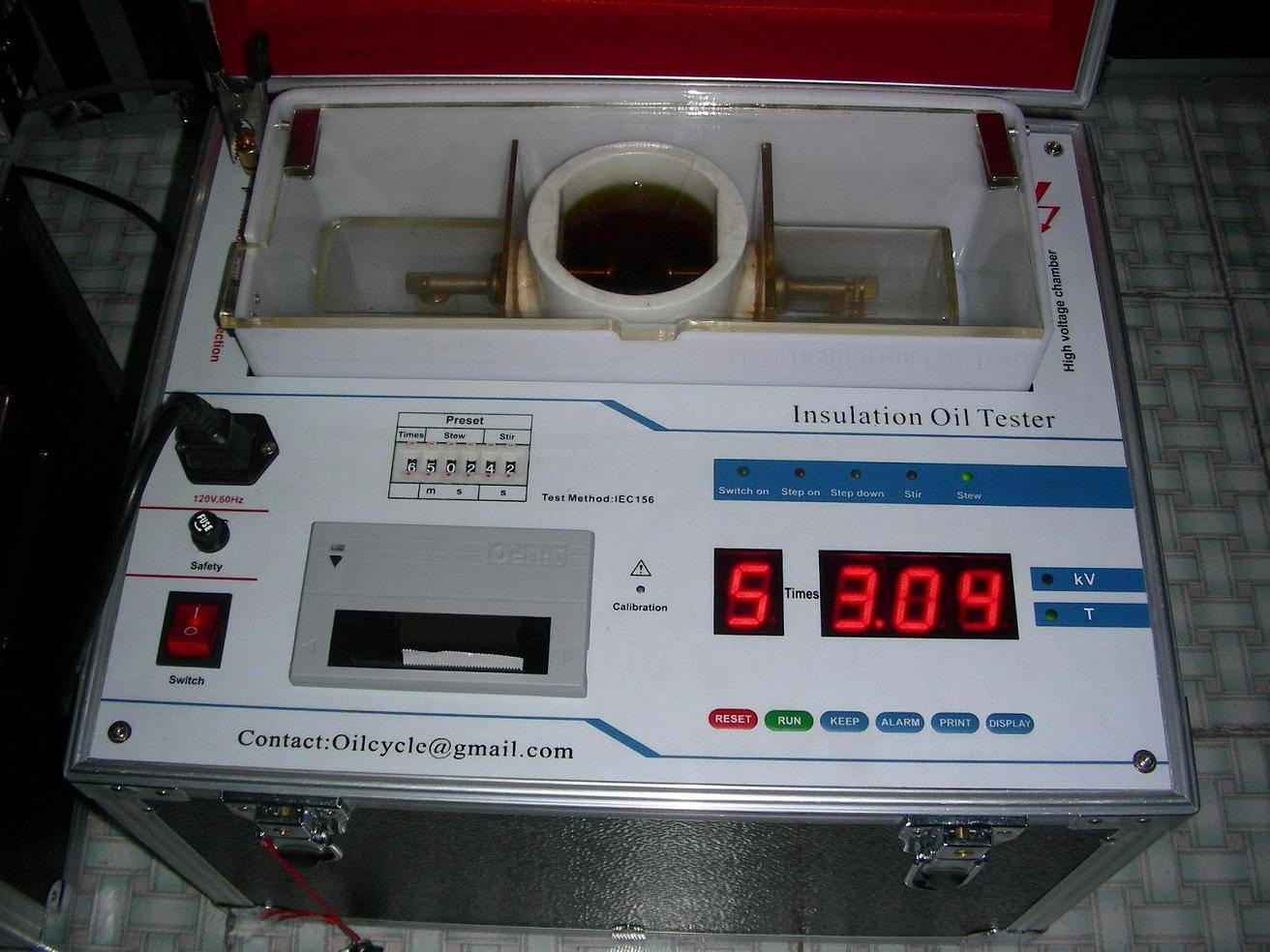 Automatic Transformer oil tester