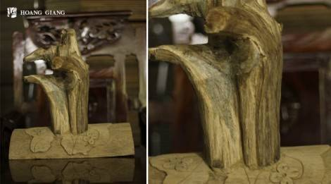 Peace Agarwood Carving