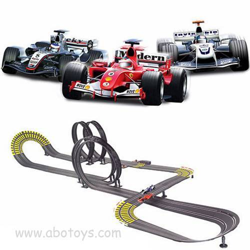 1:43 Slot Mini F1 Racing Car with Track