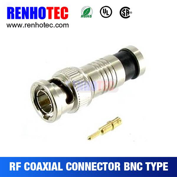 High performance Male compression rg59 coaxial cable connector