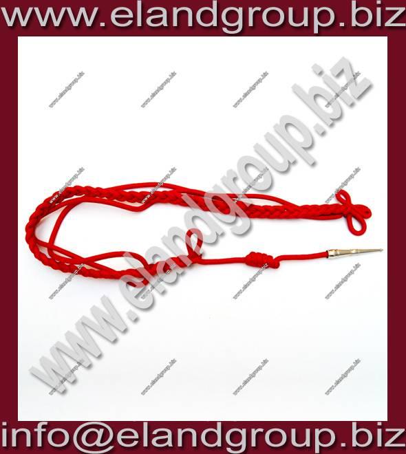 Red Silk officer Aiguillette