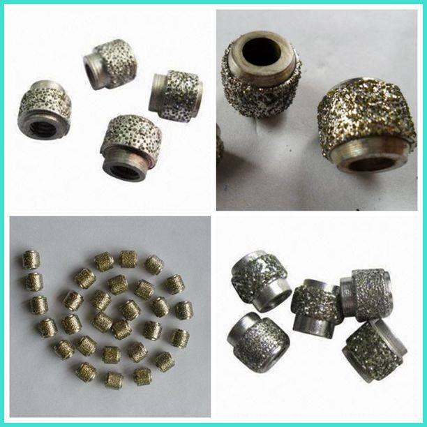 Vacuum Brazed Router Bits Diamond Wire Saw Beads