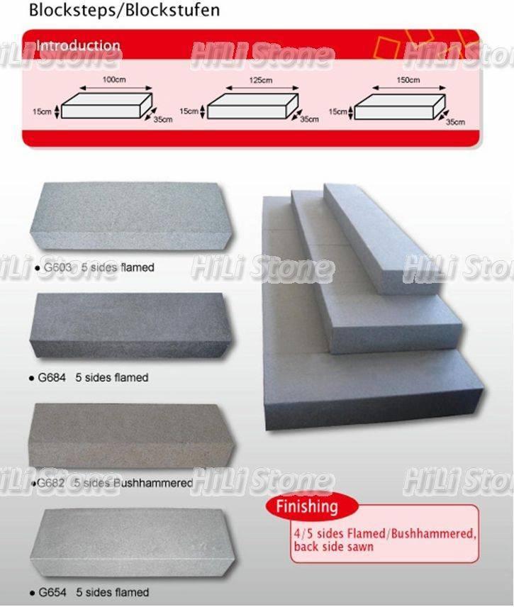 Borders,kerbstone,block steps in Granite and Basalt