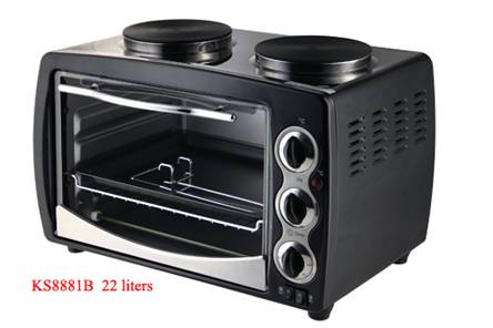 Toaster oven KS8881B with Two Hotplate(GS,CE,CB,ROHS version)