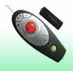 Wireless green laser presenter with mouse function