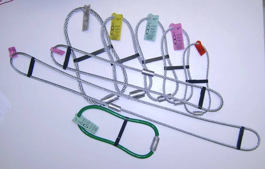 wire lifting loops ,galvanized wire rope loop lifter
