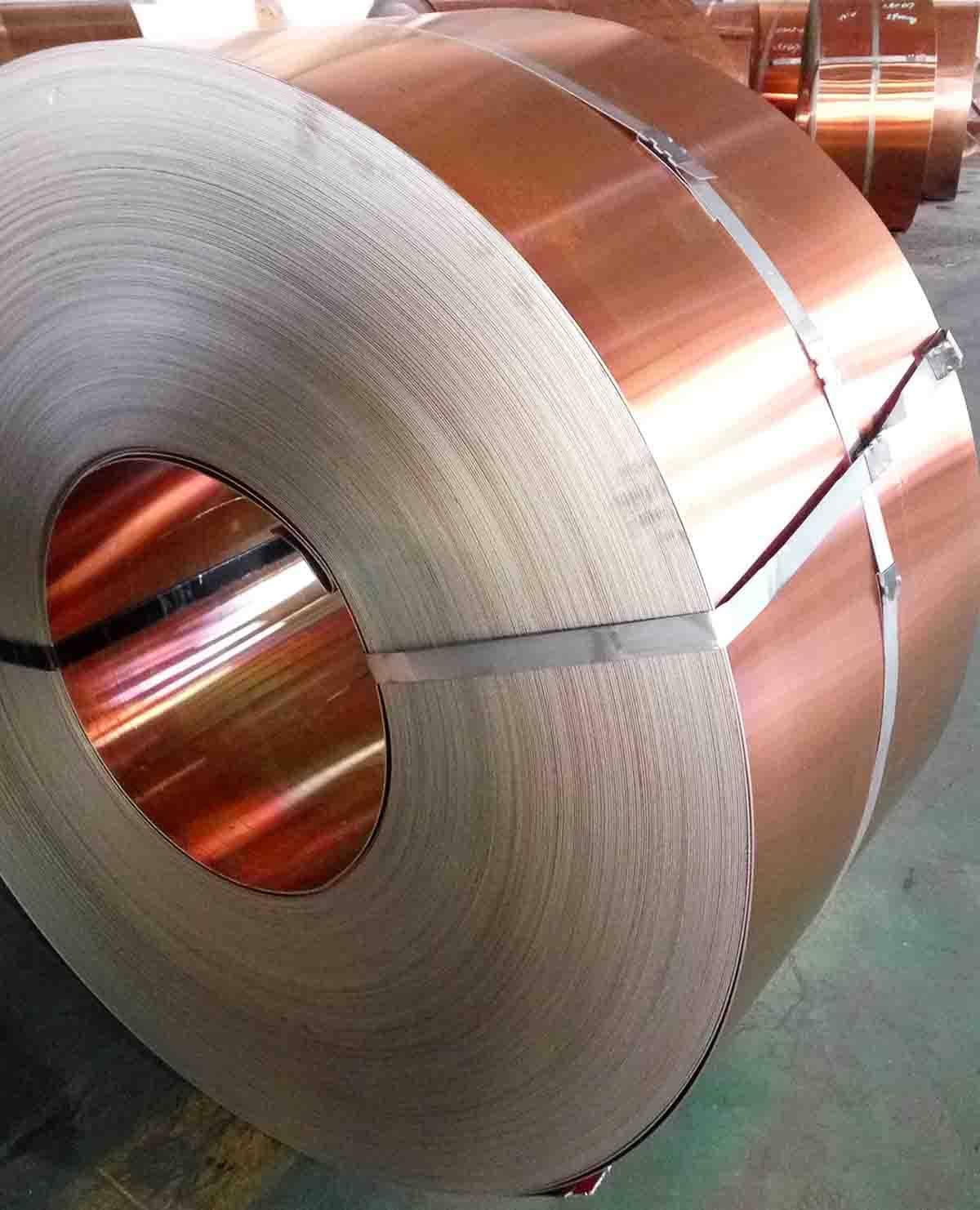 Copper-steel-copper Trimetal Strip