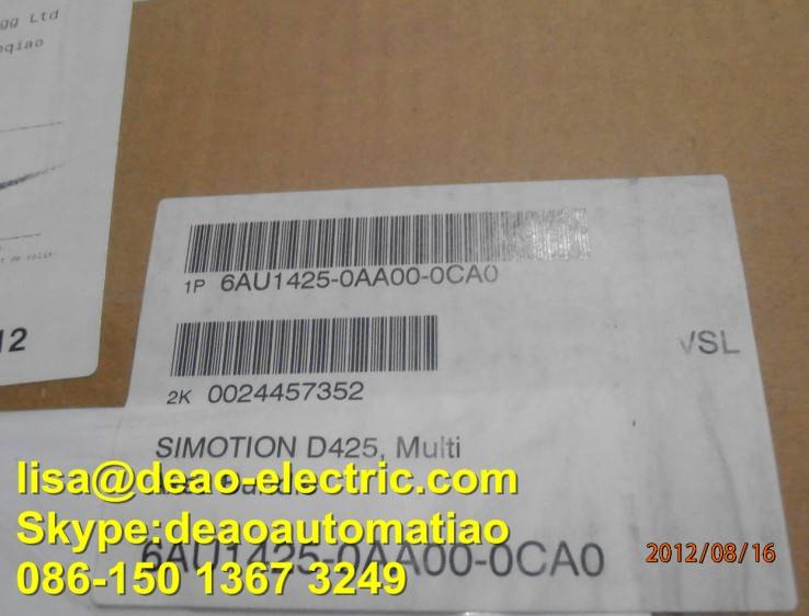 6AU1435-0AA00-0CA0 SIEMENS SIMOTION DRIVE-BASED MULTIAXES BUNDLE D425 CONSISTING OF PROGRAMMABLE MO